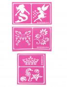 6 Snazaroo™ stencils voor meisjes