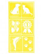 6 Snazaroo™ gemengde stencils