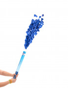 Blauw confettikanon 60 cm
