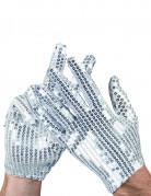 Zilveren lovertjes handschoenen voor volwassenen