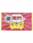 Hippie Flower Power vlag 90 x 150 cm