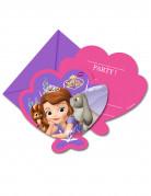 6 Prinses Sofia™ uitnodigingen met enveloppen
