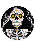 6 kartonnen Día de los muertos borden