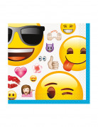 16 Emoji™ smiley servetten