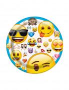 8 kartonnen bordjes Emoji™ smileys