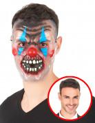 Tweekleurig clownsmasker voor volwassenen