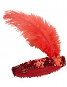 Rode charleston hoofdband voor vrouwen