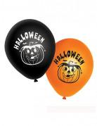 20 oranje en zwarte pompoen ballonnen