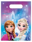 6 plastic Frozen™ uitdeel tasjes