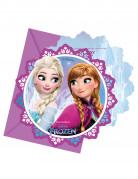 6 Frozen™ uitnodigingen en enveloppen