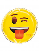 Knipoog smiley Emoji™ folie ballon