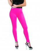 Fluo roze legging voor volwassenen