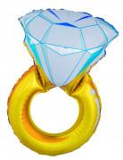 Grote diamantring ballon