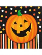 16 pompoen Halloween servetten