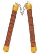 Goudkleurig met bruin ninja nunchaku