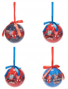 4 Spiderman™ kerstballen 7.5 cm