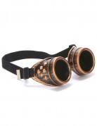Koperachtige steampunk bril voor volwassenen