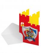 Set 8 ridder uitnodigingen