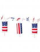 USA slinger met lantaarns