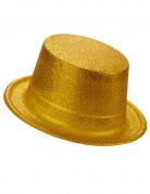 Goudkleurige hoge hoed voor volwassenen