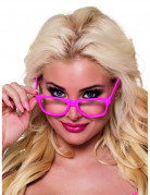 4 fluo roze brillen voor volwassenen