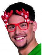 Rode rendier kerst bril