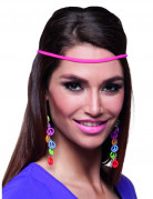 Veel gekleurde hippie peace oorbellen voor volwassenen
