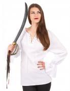 Blouse met lange witte mouwen voor vrouwen