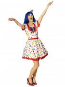Clownskostuum met stippen voor vrouwen