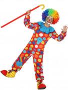 Veelgekleurd clown kostuum voor kinderen