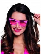 Fluo roze bril voor volwassenen