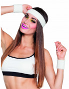 Witte hoofdband met polsbandjes