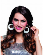 Zilverkleurige oorbellen met pailletten voor dames