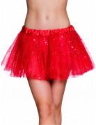 Rode tutu met sterretjes voor dames
