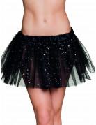 Zwarte tutu met sterretjes voor vrouwen