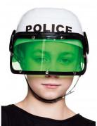 Witte politie helm voor kinderen