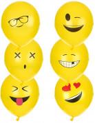 6 Imoji™ ballonnen 24 cm