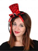 Rode mini hoed voor dames