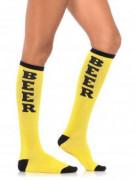 Gele biersokken voor volwassenen
