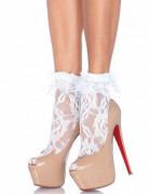 Sokken van wit kant voor vrouwen