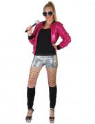 Roze retro pailletten vest voor dames