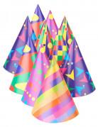 10 gekleurde feesthoedjes