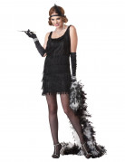 Zwarte charleston kostuum voor vrouwen