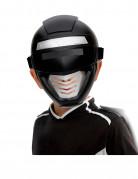 Zwarte power robot masker voor kinderen