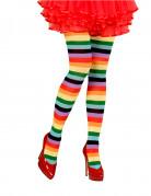 Regenboog panty voor volwassenen