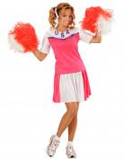 Wit met roze cheerleader kostuum voor vrouwen