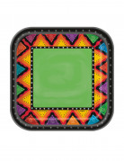 10 kleine kartonnen Mexicaanse bordjes