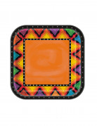 8 kartonnen kleurrijke Mexicaanse borden