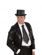Zwarte glitter stropdas voor volwassenen