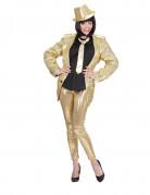 Gouden glitter legging voor dames